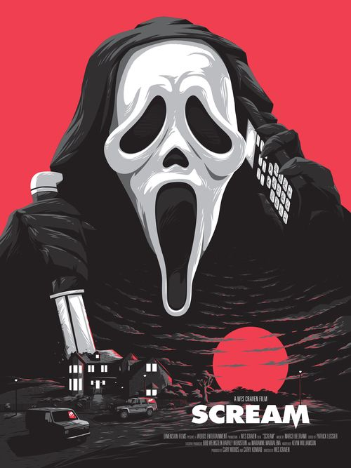 """kogaionon: """"Scream by Matthew Florey Rowan / Tumblr / Twitter / Instagram / Store 18"""" x 24"""" screen print, numbered edition of 35. Private commission, not for sale. """""""