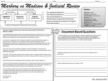 Printables Marbury V Madison Worksheet 1000 ideas about judicial review on pinterest supreme court marbury v madison dbq
