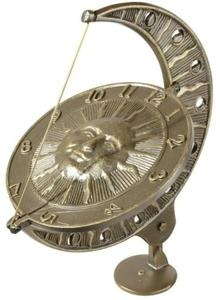 New Whitehall 15 Sun and Moon Outdoor Garden Sundial French Bronze Finish | eBay