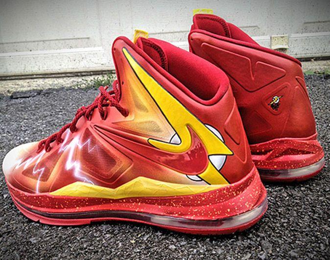 "Nike LeBron X – ""Flash"" Customs for Darius Miller   By Mache   Freshness"