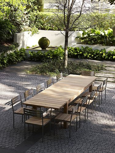 Chunky extension dining table with Nipper chairs  www.robertplumb.com.au