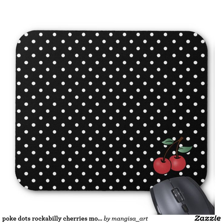 poke dots rockabilly cherries mouse pad