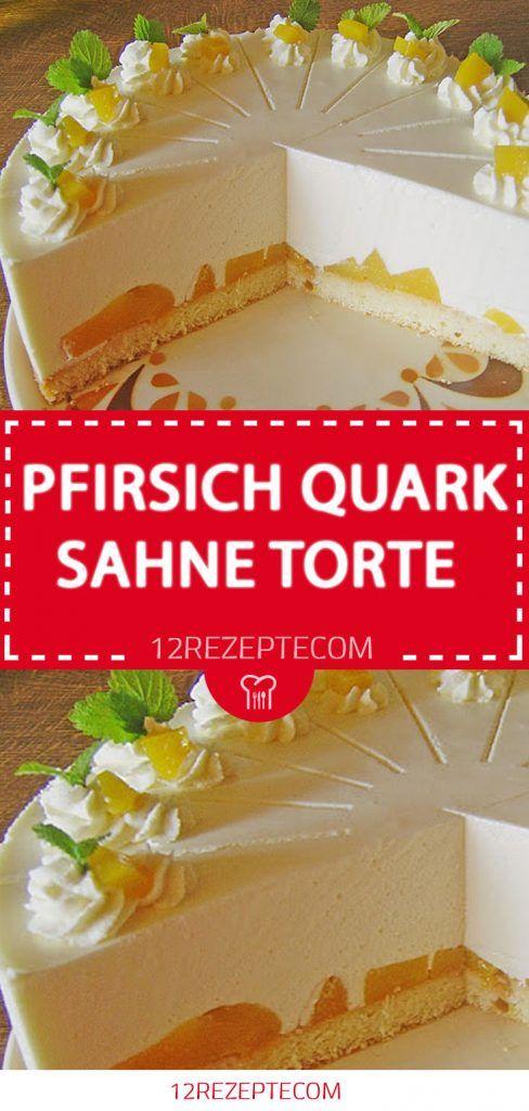 Peach Quark Cream Pie – Einfache Rezepte