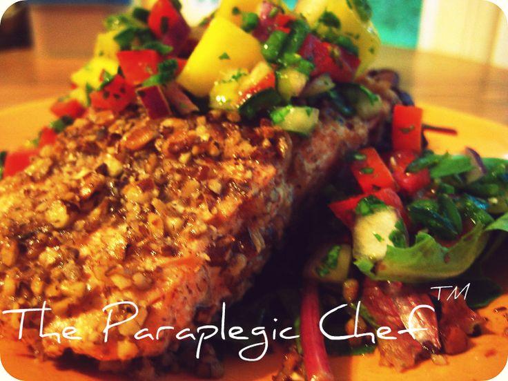 Pecan Crusted Salmon with Mango Salsa | Tasty Kitchen: A Happy Recipe Community!