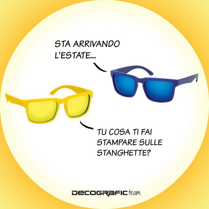 Occhiali con stampa personalizzata logo/marchio/scritta: per info e preventivi, http://www.decografic.com/gadget-promozionali