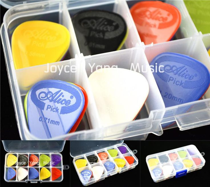 [Visit to Buy] 30pcs Alice Projecting Nylon Acoustic Electric Guitar Picks Plectrums+1 Plastic Picks Box Case Free Shipping #Advertisement