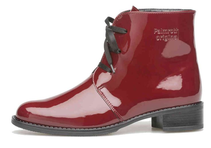 Palmroth boot with laces chili red patent - Palmroth Shop