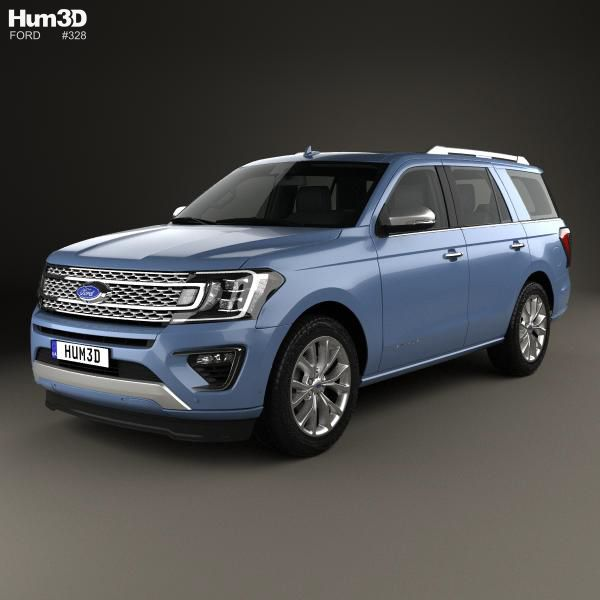 Ford Expedition Platinum 2017 3d model from Hum3d.com.