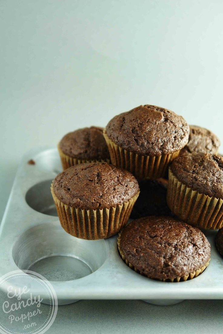 Double chocolate muffins (low gluten, low sugar, dairy-free)