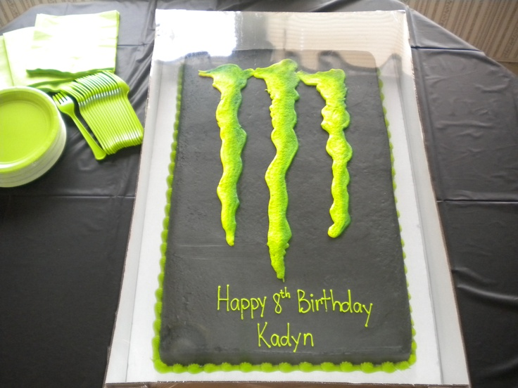 Monster Energy Cake Design