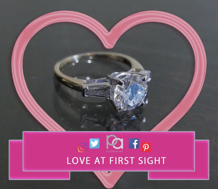 Something about a Beautiful big center stone and side stones that compliment each other wonderfully really make this love at first sight.  Message us for details.  #PlatinumArt #jewelry #vogue #chic #style #fashion #womensfashion #beauty #diamond #flashy #stylish #YES  #art