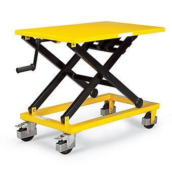 RELIUS SOLUTIONS Mechanical Mobile Scissor Lift Table - 660-Lb. Capacity - Scissor Lifts & Lift Tables - Material Handling | C&H Distributors