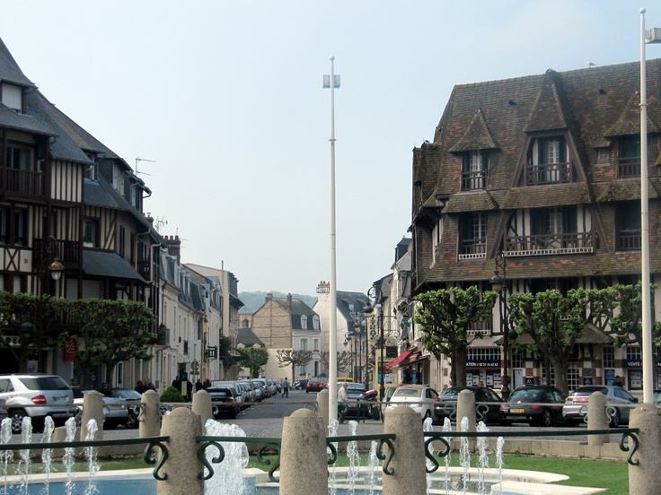 Deauville main square with Town Hall, Normandy, France
