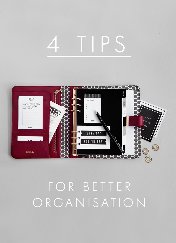 Boost productivity & de-stress with our 4 tips for better organisation using our stylish burgundy Stockholm Planner