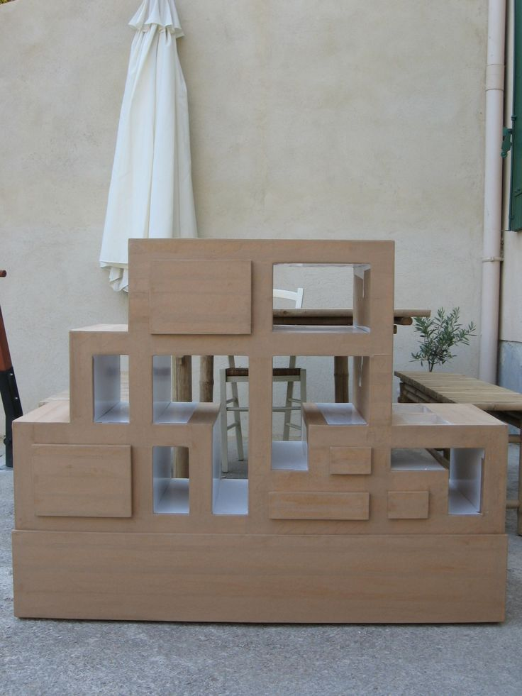 14 best meuble en carton images on pinterest cardboard furniture cartonnage and recycling. Black Bedroom Furniture Sets. Home Design Ideas