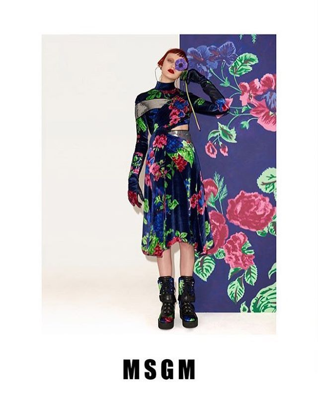 #Campaigns 🌺 KATIE MOORE  @katherineann.moore stars in the @msgm_official campaign  Photographed by #WalterPfeiffer  Styled by @robbiespencer  Special thanks to @pg_dmcasting @samuel_ellis  #TrumpModels #KatieMoore #MSGM #Wehavethebestgirls