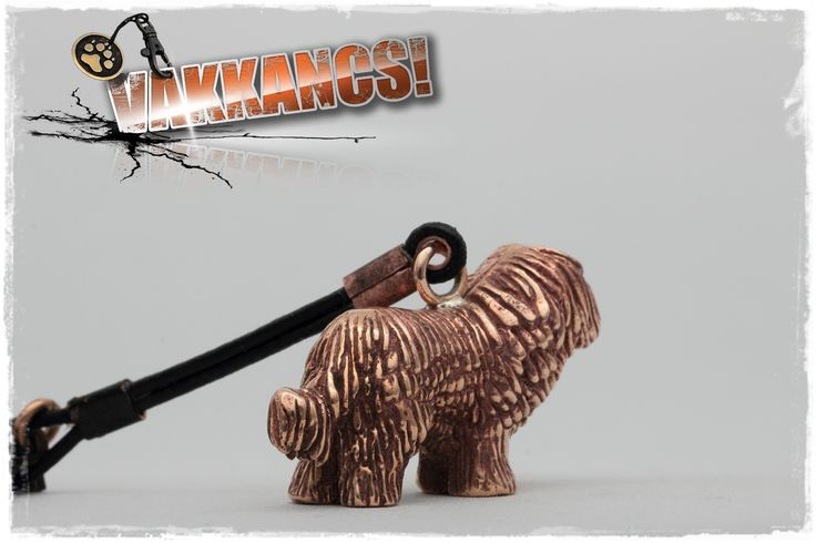 Komondor mini-sculpture keyring. Bronze. http://www.vakkancs.eu/vakkancs_dogs/komondor/komondor-keyring-bronze