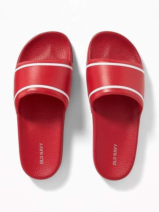 499cbda21 Old Navy Faux-Leather Slide Sandals for Men   Products in 2019   Mens slide  sandals, Sandals, Shoes