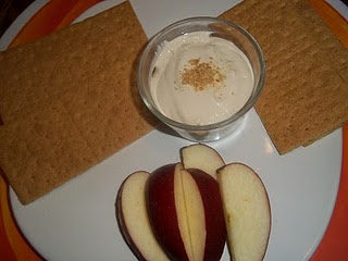 Cream cheese dip with fruit