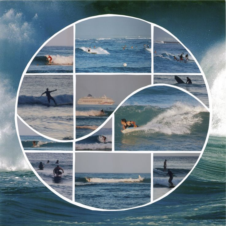 Surf's Up!    Photo Collage designed by Anica, Lea France Designer, using Harmony Stencil