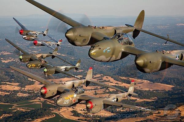 a P-38 lightning squadron