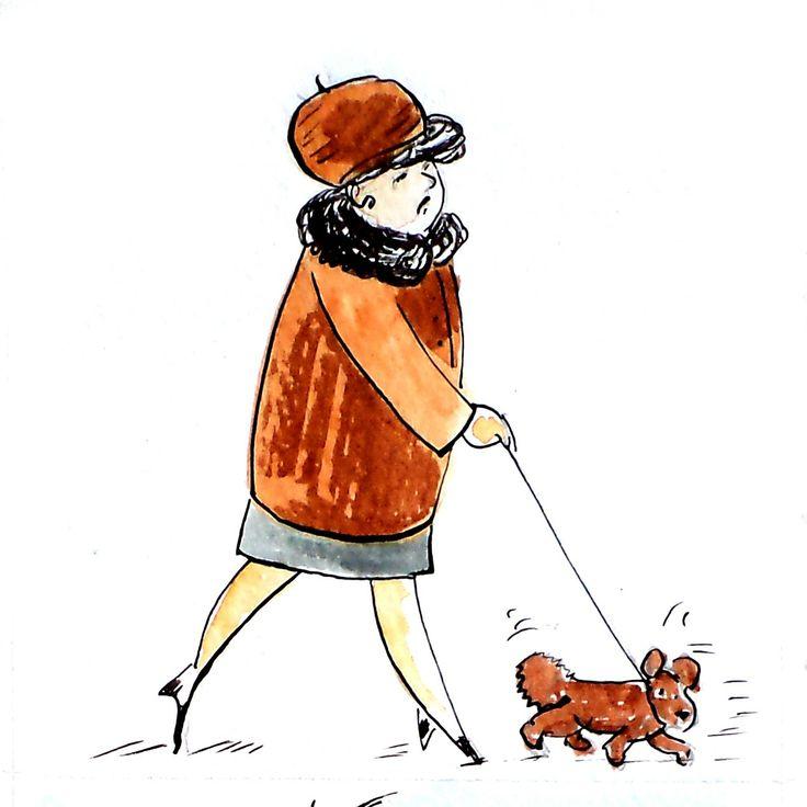 A Lady with a dog  by Kamila Guzal-Pośrednik