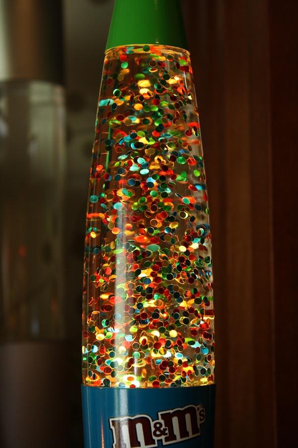 M & M candy lamp...how cute.