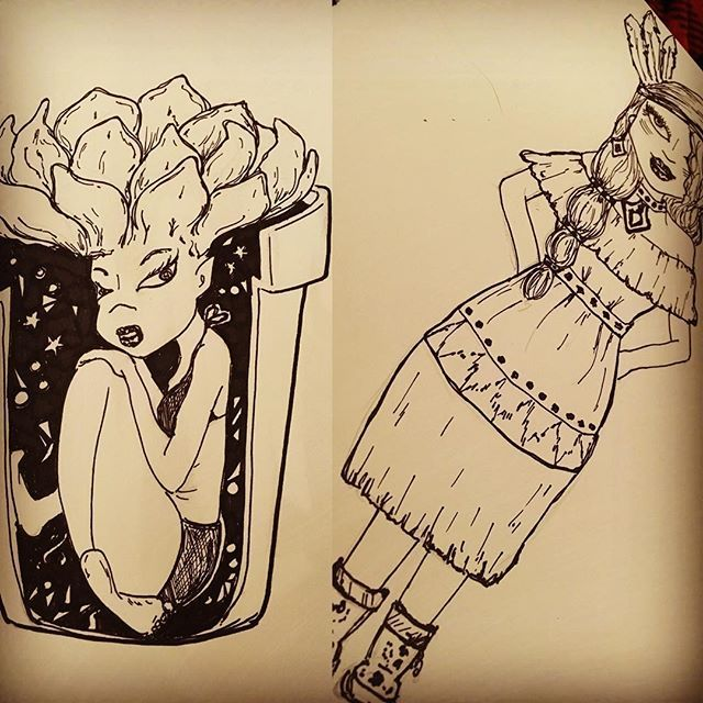A few sketches for the day. #theurbangypsy #yegartist #justasketch #artistsoninstagram