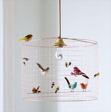 Birdcage Chandelier - eclectic - children lighting - Graham and Green