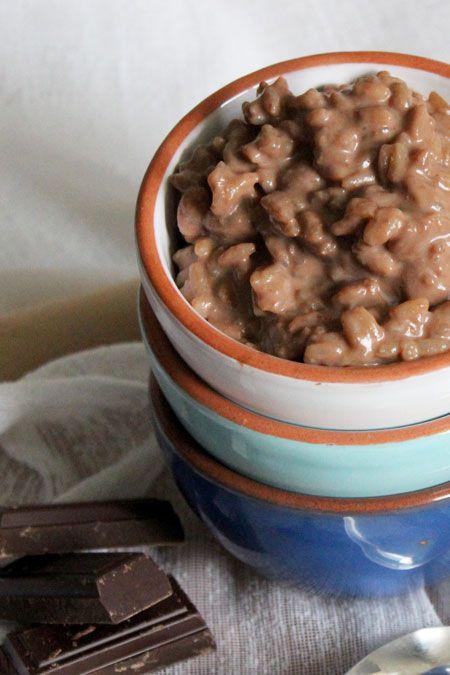 Riz au lait chocolat / tonka