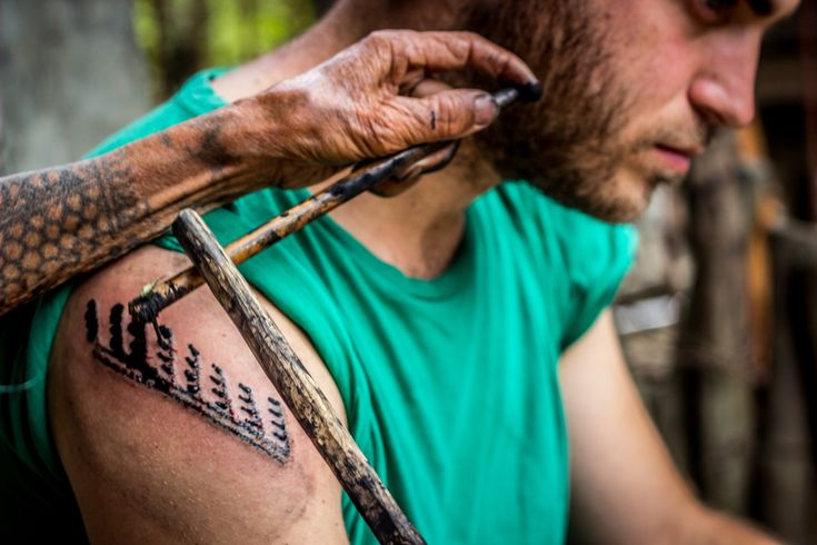 Whang Od tattoo. Luzon Island (Philippines)