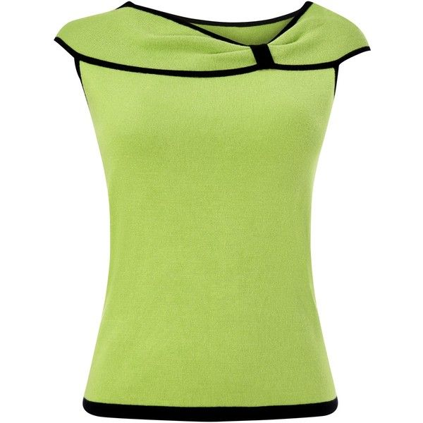 Precis Petite Bardot Top, Lime (225 RON) ❤ liked on Polyvore featuring tops, petite and precis petite