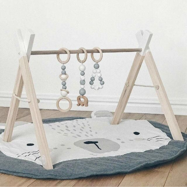 Cute Rabbit Baby Play Mat Blanket Bee Charmer Baby Activity Mat Baby Play Mat Wooden Baby Gym