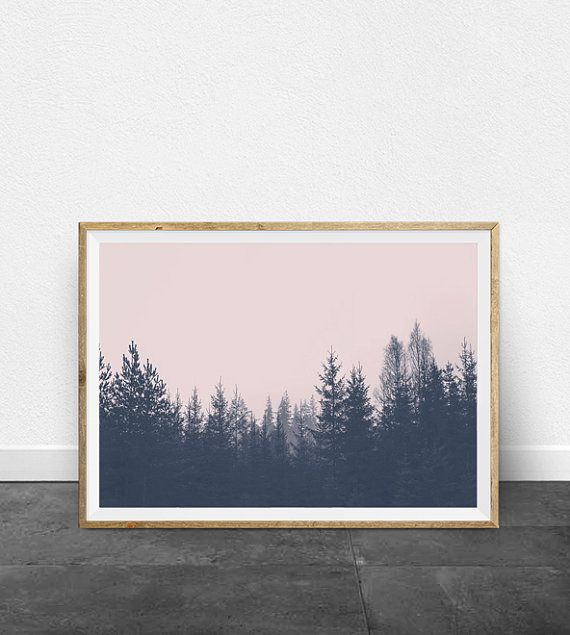 Tree Wall Art Forest Print Landscape by ThePrintableStudio on Etsy