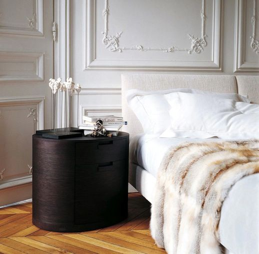 Le fashion 5 things parisian apartment bedroom white for White fur bedroom