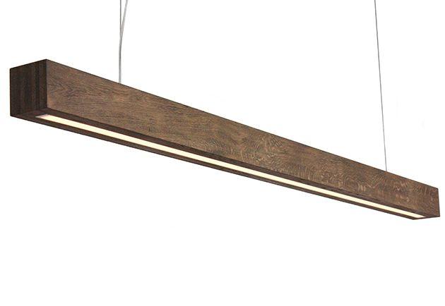 Eiken Balklamp van 2 meter met donkere uitstraling LED verlichting hanglamp