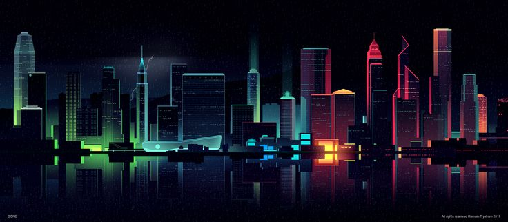 Brilliant Digital Illustrations of a City by Night  Romain Trystram is a graphic designer based in Morroco. He creates stunning digital illustrations. In his soberly entitled series Gone he offers beautiful points of view on a city illuminates by night. Streets perspectives buildings seen from the front or aerial views all enlightened by neon lights cars lights or public lights artist transports us in another world.                 #xemtvhay