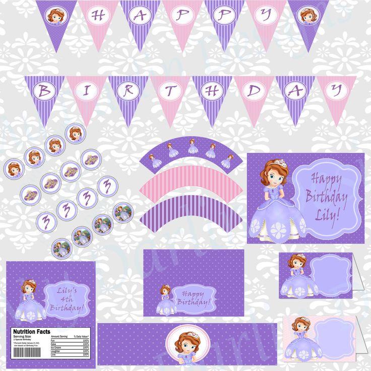 Princess Sofia DIGITAL Birthday Party Kit. $22.00, via Etsy.