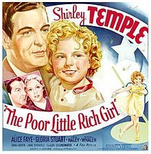 The Poor Little Rich Girl is a 1936 American musical film directed by Irving Cummings. The screenplay by Sam Hellman, Gladys Lehman, and Harry Tugend was based on stories by Eleanor Gates and Ralph Spence, and on the 1917 Mary Pickford vehicle of the same name. The film focuses on a child (Temple) neglected by her rich and busy father who meets two vaudeville performers and becomes a radio singing star.