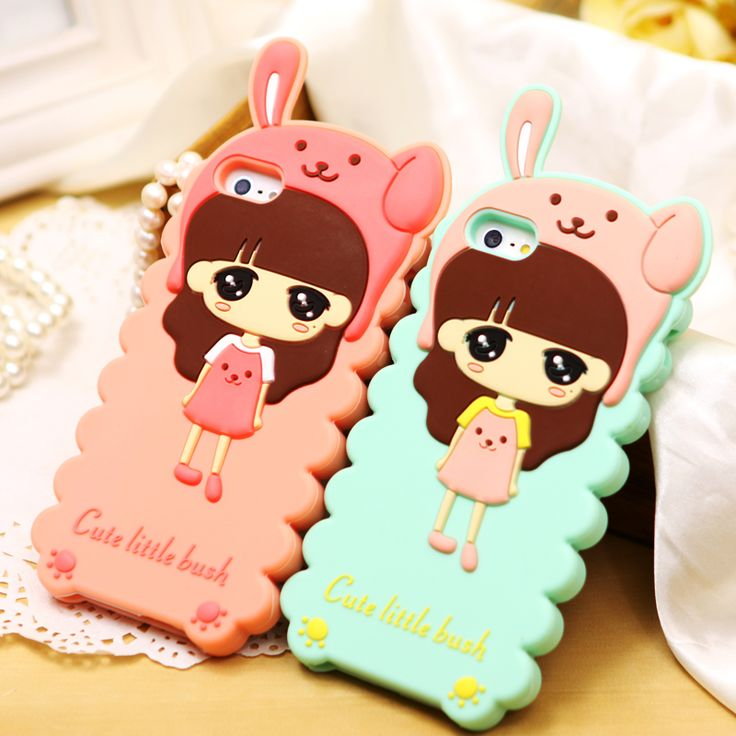 Cute Girl Back Case Cover for iPhone