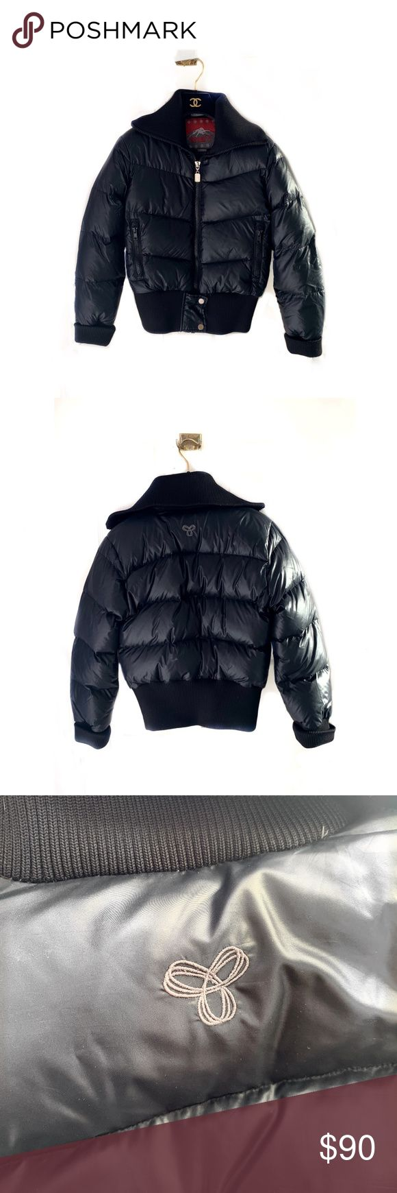 Aritzia TNA Puffer Bomber Jacket (With images) Black