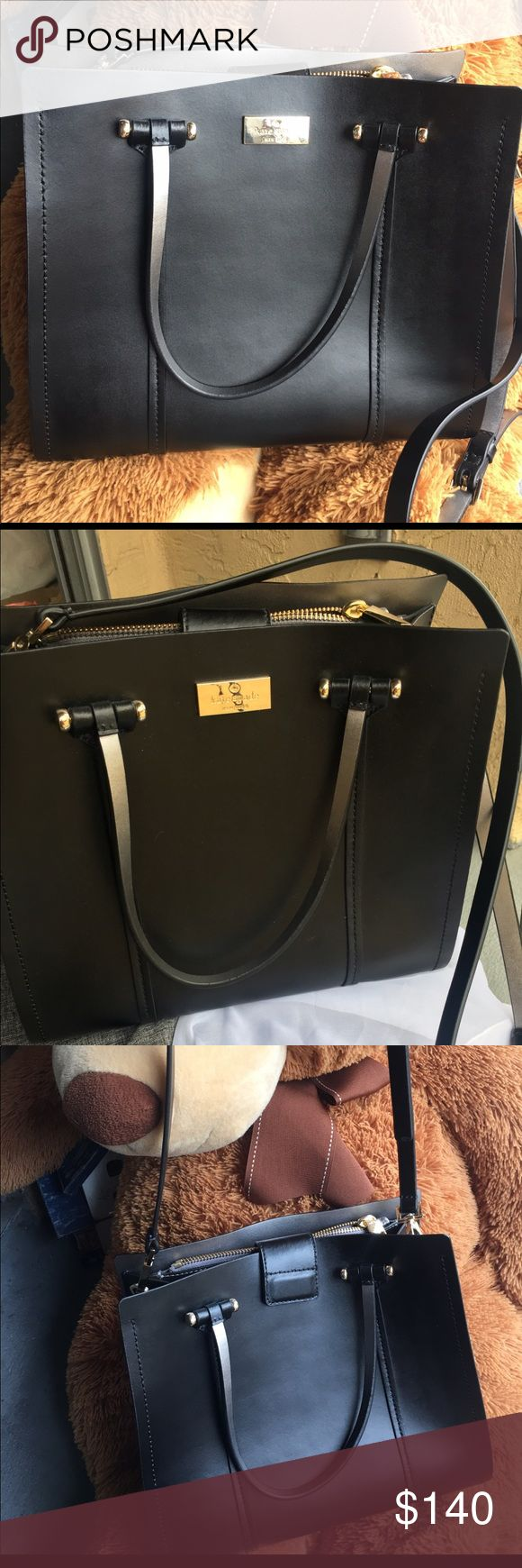 ♠️Kate Spade Handbag♠️ Like new. With Magnetic clip. Like open bag with both black and silver color on strap and inside 😊 kate spade Bags Crossbody Bags