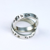 Stamped rings for mom #jewelry #personalized