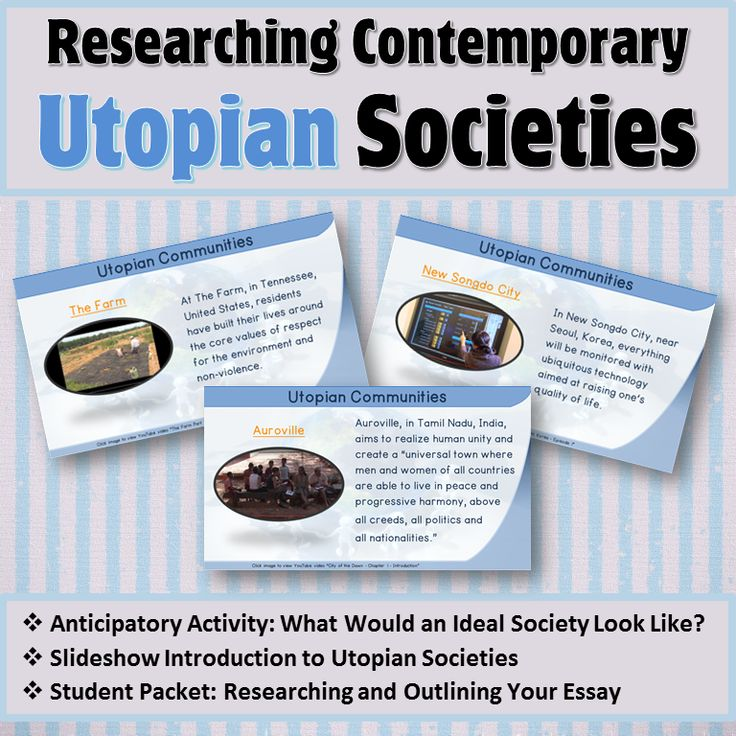 essays on utopian societies The pros and cons of the utopian society pages 4 words 1,062 view full essay more essays like this: utopia, utopian society, sir view other essays like this.