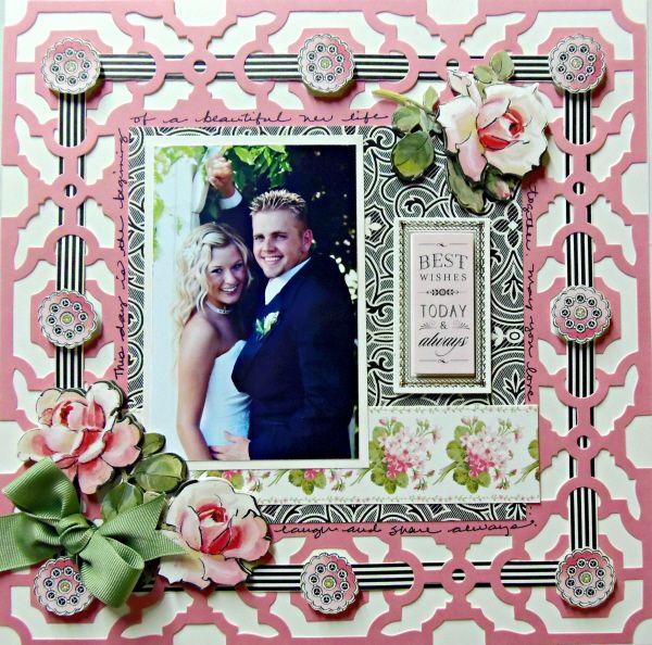 **New Anna Griffin** - Scrapbook.com - Wendy Schultz via Scrapbook.com -onto Scrapbook Layouts.