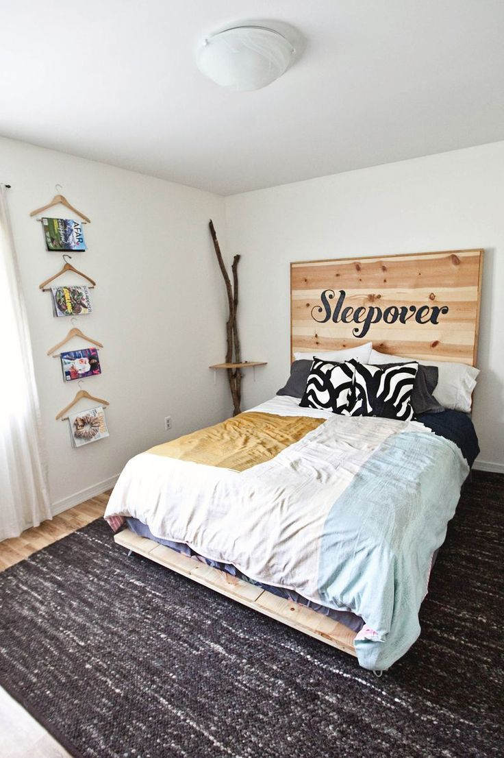 DIY Simple Bed Frame Simple bed frame, Homemade beds