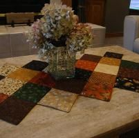 Stitch in the Ditch Quilted Table Runner