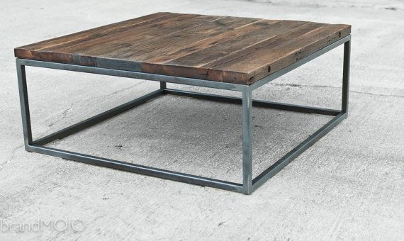 Industrial Hardwood Square Coffee Table The by brandMOJOinteriors