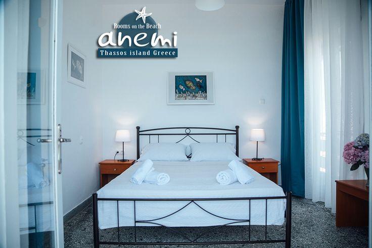 Cozy Rooms to Let, Anemi on the Beach of Skala Potamias, Thasos island Greece. Tel.: +30 25930 61 480, +30 6947 589 555 E-Mail: anemithassos@gmail.com Ενοικιαζόμενα δωμάτια στην Παραλία Χρυσή Ακτή της Σκάλας Ποταμιάς, Θάσος.