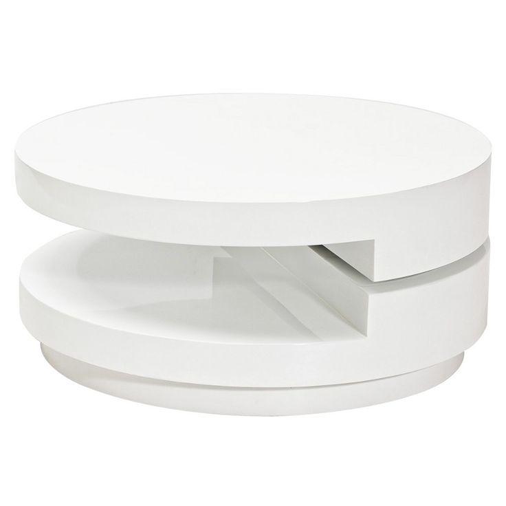 Masuta rotativa moderna Fabiola alb FABIOLA SM - Corpuri de iluminat, lustre, aplice